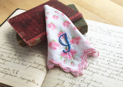 Handkerchief with J