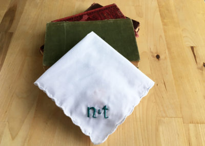 n+t Wedding Handkerchief