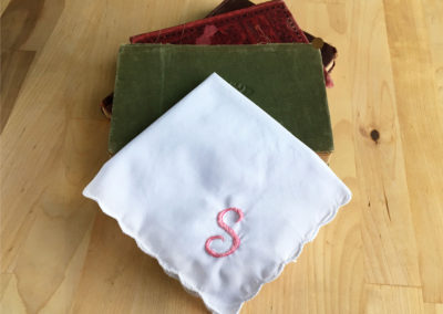 S Wedding Handkerchief