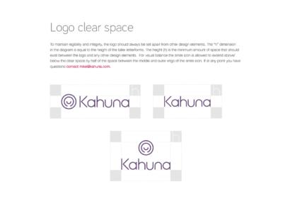 Kahuna Logo Usage Specs