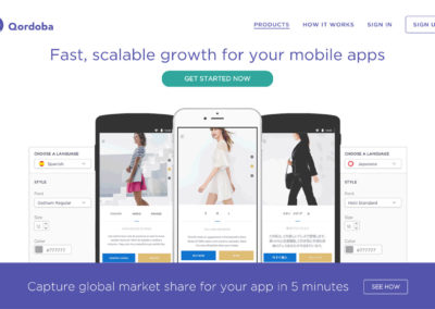 Qordoba Mobile Webpage