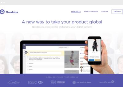Qordoba Homepage
